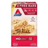 Atkins Protein-Rich Meal Bar, Peanut Butter Granola, Keto Friendly (16 ct.)