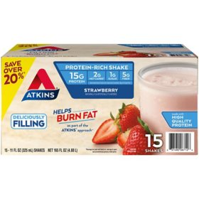 Atkins Gluten Free Protein-Rich Shake, Strawberry, Keto-Friendly (15 pk.)