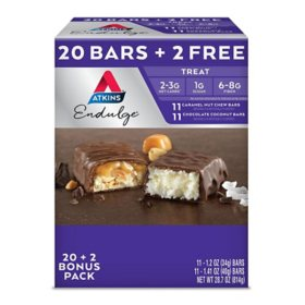 Atkins Endulge Treat Variety Pack (20 + 2 Bonus Bars)