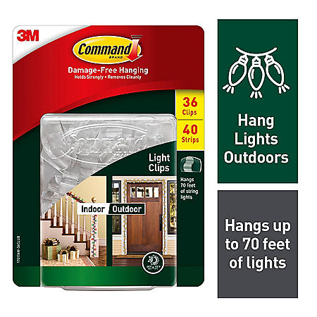 Command Outdoor Light Clips Club Pack, 36 Clips, 38 Strips