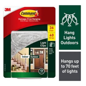 3M Command Outdoor Light Clips with Foam Strips Club Pack
