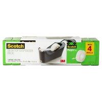 """Scotch Magic Tape Dispenser Value Pack, 3/4"""" x 1000"""", 4 Pack"""