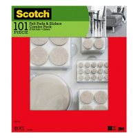 Scotch Felt Pads and Sliders Floor Protection Kit, 101 Count, Assorted Sizes