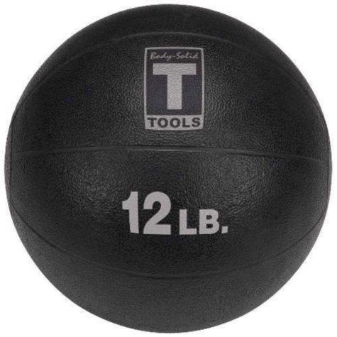 Body Solid Tools BSTMB12 12 lb. Black Medicine Ball