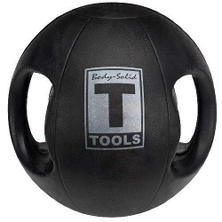 Body Solid Tools BSTDMB10 10 lb. Dual-Grip Medicine Ball