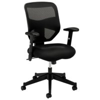 basyx VL531 High-Back Work Chair, Black