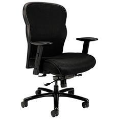 basyx VL705 Series Big & Tall Mesh Chair, Black