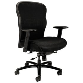 basyx VL705 Series Big & Tall Mesh Chair, Black
