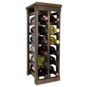 El Mar Furnishings Classic Wood Wine Rack