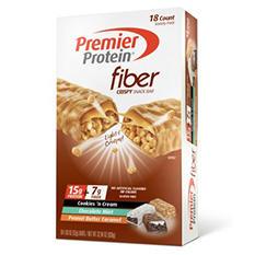 Premier Protein FIBER Snack Bar, Variety Pack (1.83 oz., 18 ct.)