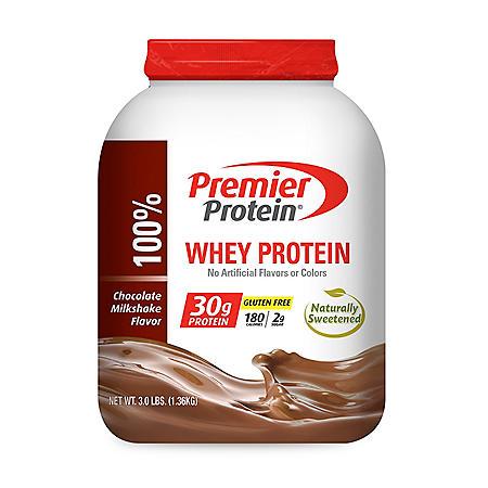 Premier Protein Whey Powder, Chocolate Milkshake (3 lbs.)