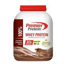 Premier Protein Whey Powder, Chocolate Milkshake (3.0 lbs.)