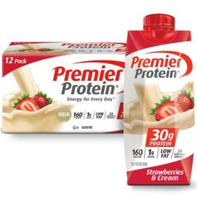 Premier Protein High Protein Shake, Strawberries & Cream (11 fl. oz., 12 pack)