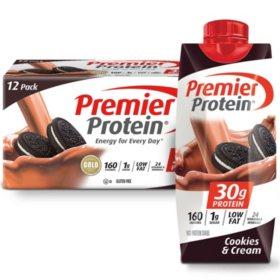 Premier Protein High-Protein Shake, Cookies & Cream (11 fl. oz., 12 pk.)