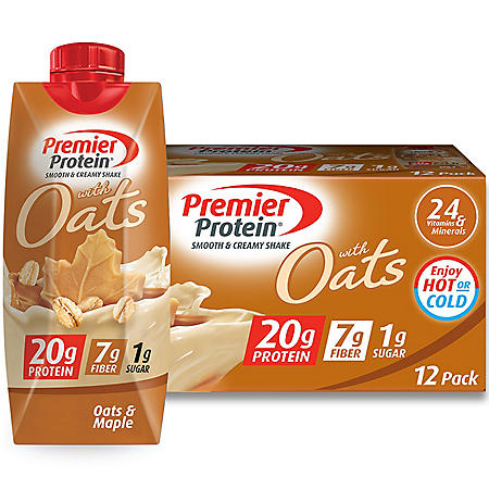 Premier Protein 20g Protein with Oats Shake, Oats and Maple (11 fl. oz., 12 pk.)