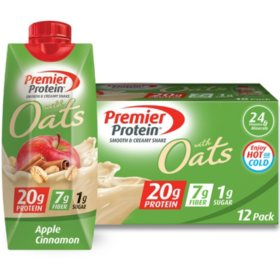 Premier Protein 20g Protein with Oats Shake, Apple Cinnamon (11 fl. oz., 12 pk.)