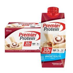 Premier Protein 30g High Protein Shake, Cinnamon Roll (11 fl. oz., 15 pk.)