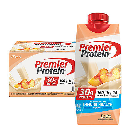 Premier Protein 30g High Protein Shake, Peaches & Cream (11 fl. oz., 15 pk.)