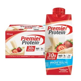 Premier Protein High Protein Shake, Strawberries & Cream (11 fl. oz., 15 pk.)