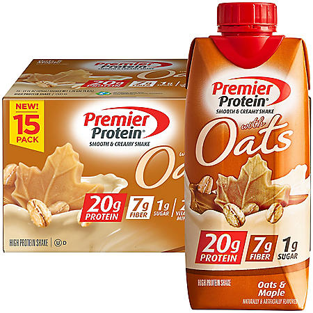 Premier Protein 20g Protein with Oats Shake, Oats & Maple (11 fl. oz., 15 pk.)