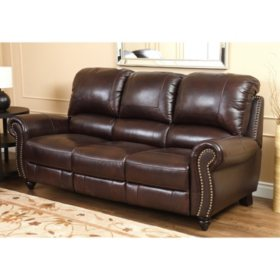 Taylor Top-Grain Leather Reclining Sofa - Sam\'s Club