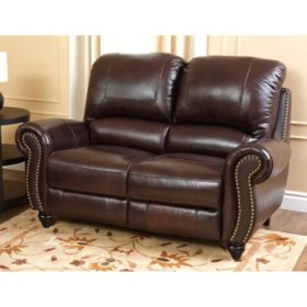 Taylor Top-Grain Leather Reclining Loveseat