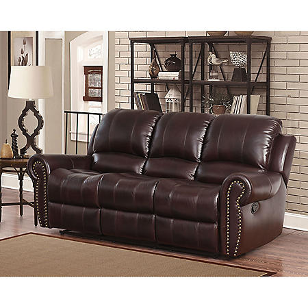 Astonishing Bentley Top Grain Leather Reclining Sofa Download Free Architecture Designs Scobabritishbridgeorg