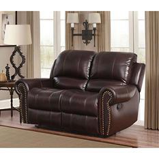 Bentley Top-Grain Leather Loveseat