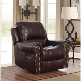 Outstanding Bentley Top Grain Leather Recliner Sams Club Machost Co Dining Chair Design Ideas Machostcouk