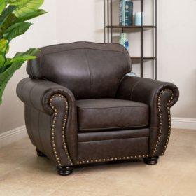 Sophie Top-Grain Leather Armchair