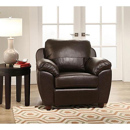 Mavin Top-Grain Leather Armchair