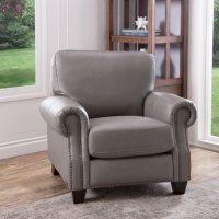 Abbyson Living Helena Top-Grain Leather Armchair