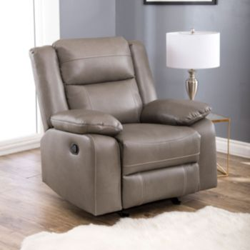 Abbyson Living Perth Rocker Faux Leather Recliner Chair