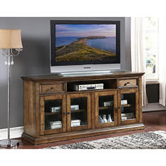 "Adler 75"" Oak Console Entertainment Center"