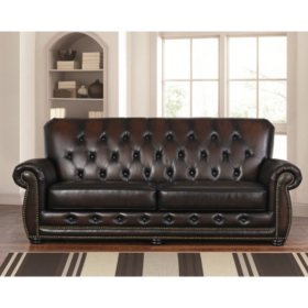 Stupendous Emily Leather Sofa And Chairs 3 Piece Set Sams Club Squirreltailoven Fun Painted Chair Ideas Images Squirreltailovenorg