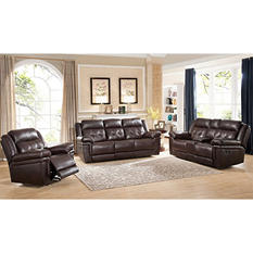 Clarence Reclining Sofa, Loveseat and Chair Set