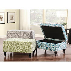Isabella Storage Ottoman (Assorted Colors)