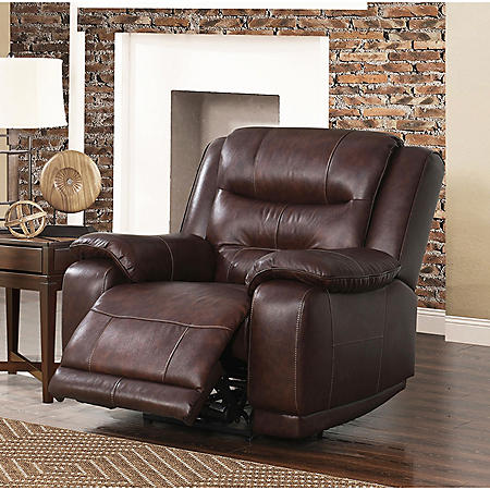 Chandler Top Grain Leather Power Recliner With Usb Port Sams Club
