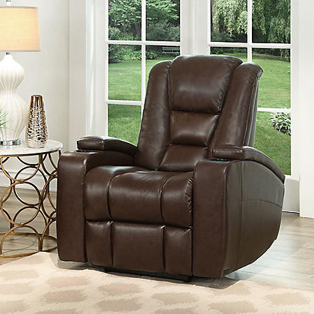 Mastro Leather Power-Reclining Home Theater Chair - Sam\'s Club