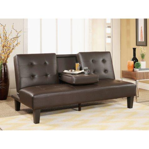 Wynn Brown Futon Sofa Bed