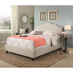 Colin Upholstery Platform Bed (Assorted Sizes)