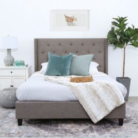 Mercer Tufted Upholstery Platform Bed (Assorted Sizes)