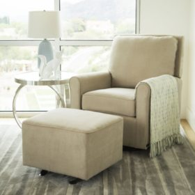Leyla Gliding Chair with Ottoman (Assorted Colors)
