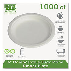 """Eco-Products Compostable Plate, 6"""" (1,000 ct.)"""