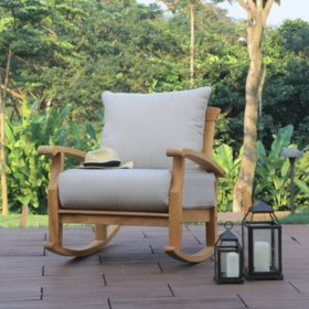 Sonoma Teak Deep Seating Rocker With Cushion (Various Colors)