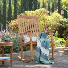 Amazing Weston Teak Porch Rocker Sams Club Ibusinesslaw Wood Chair Design Ideas Ibusinesslaworg