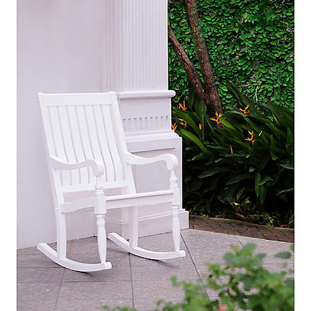 Solid Wood Porch Rocker (Assorted Colors)