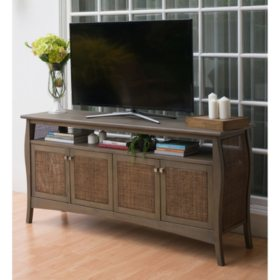 Yutan 72 Teak Wood Tv Stand Media Console Sam S Club