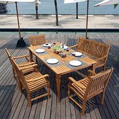 Deluxe Teak 6 pc. Dining Set