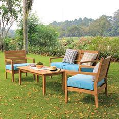 Madison Collection 4-Piece Teak Sofa Set